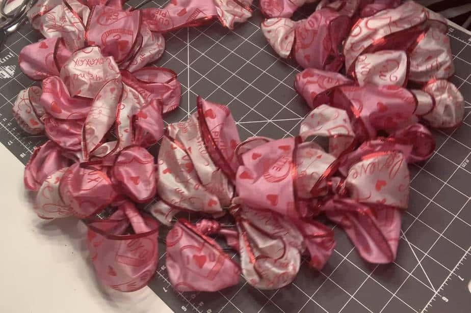 Completed DIY Valentine Wreath