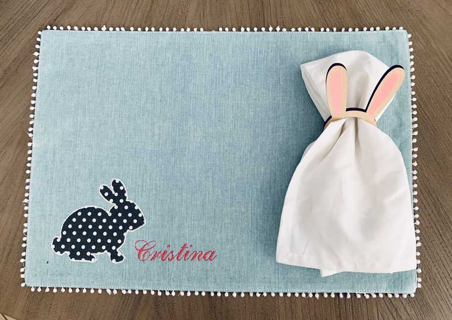 personalized Easter placemat