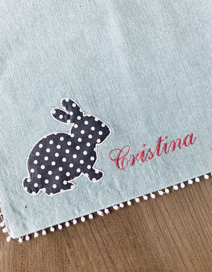 Personalized Peter Cottontail Easter placemat with name