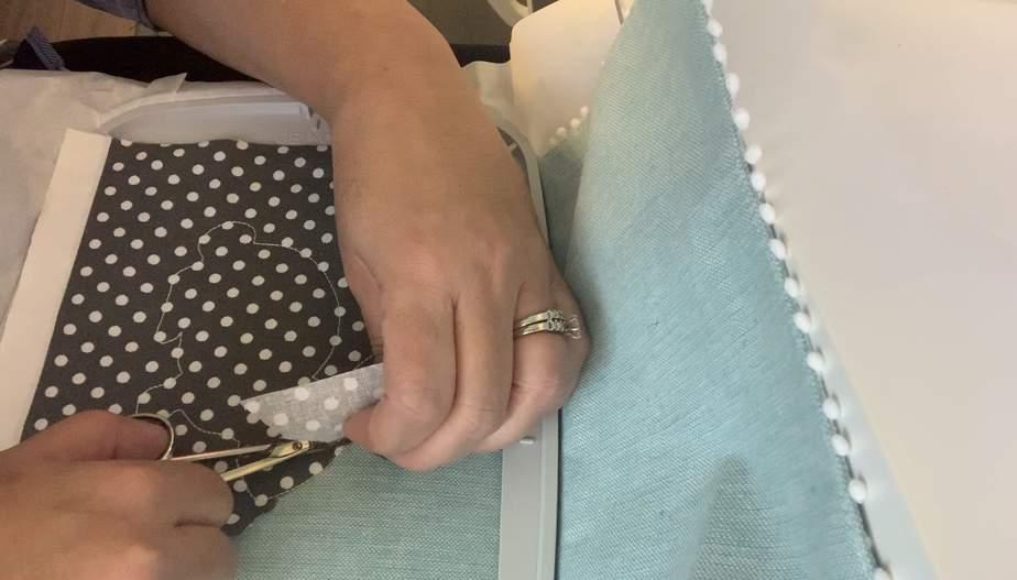 cut around fabric applique