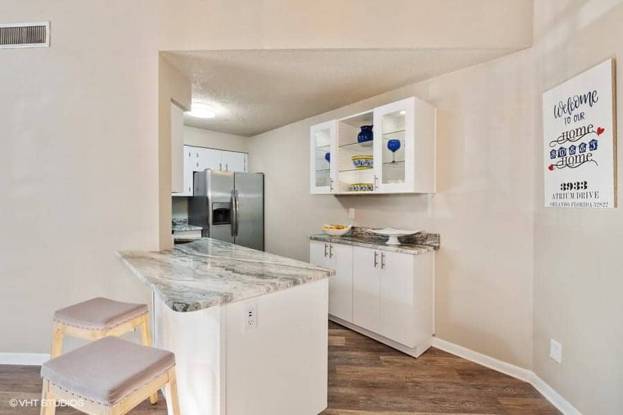 condo kitchen remodel with new countertop
