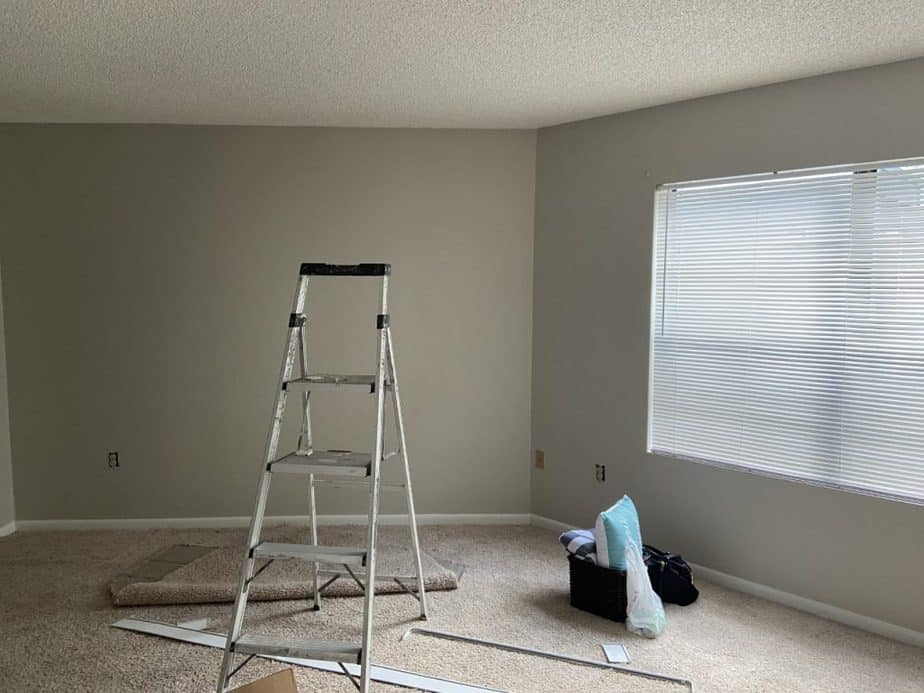 Bedroom renovated by painting