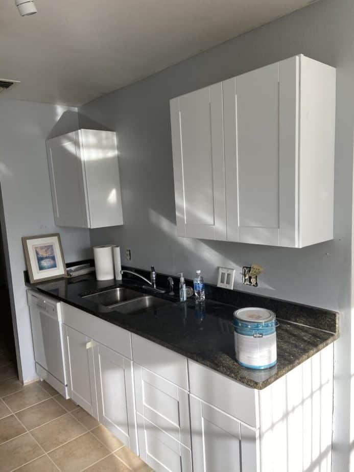 before photo townhouse renovation kitchen
