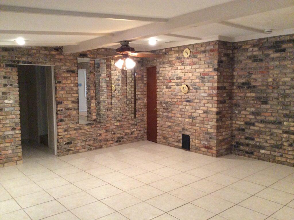 brick room before renovation