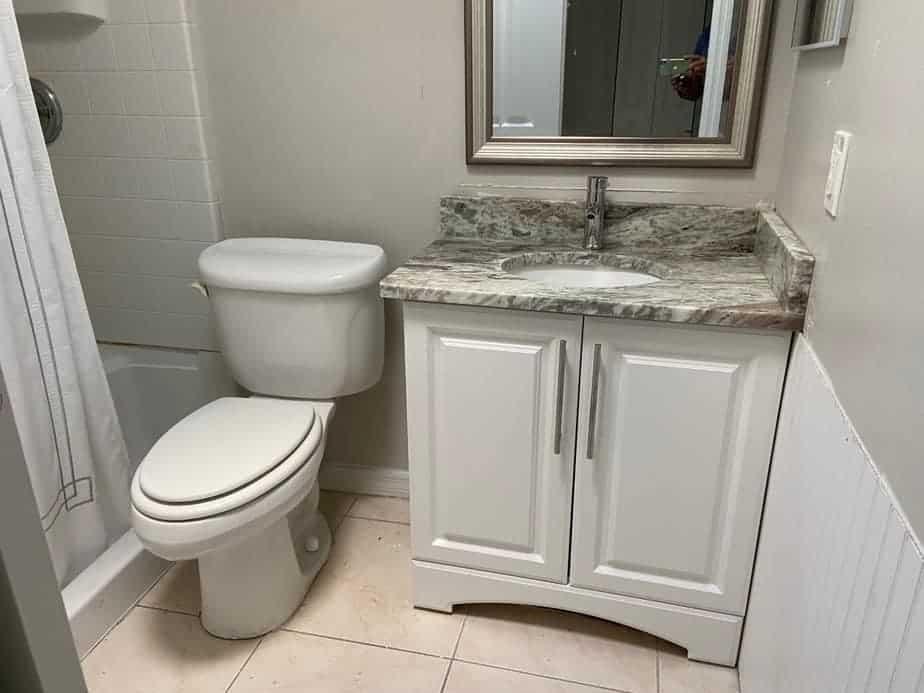 renovated bathroom condo flip
