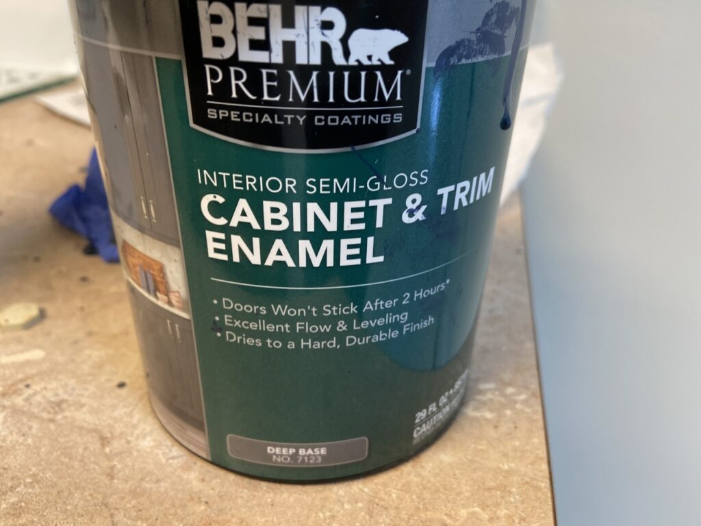 Kitchen cabinet paint I used