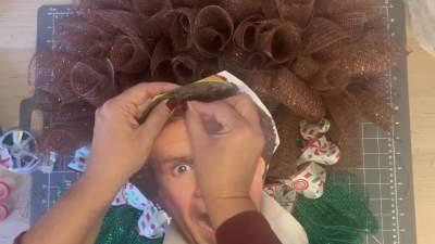 buddy elf face for wreath