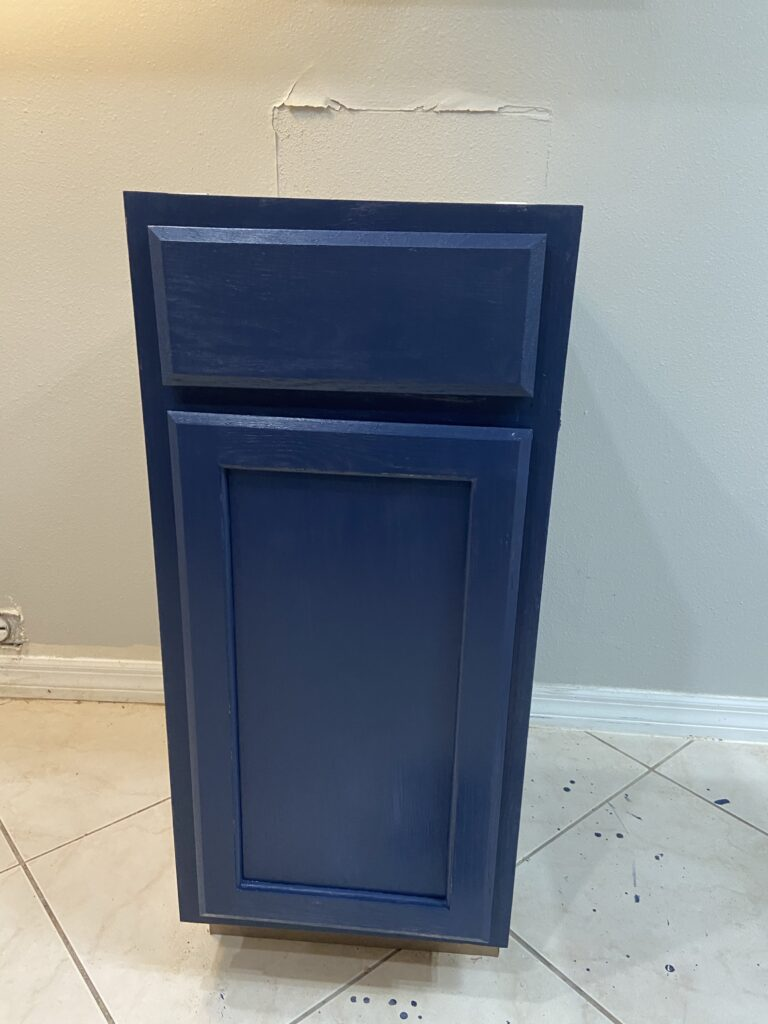 painted cabinet and floor
