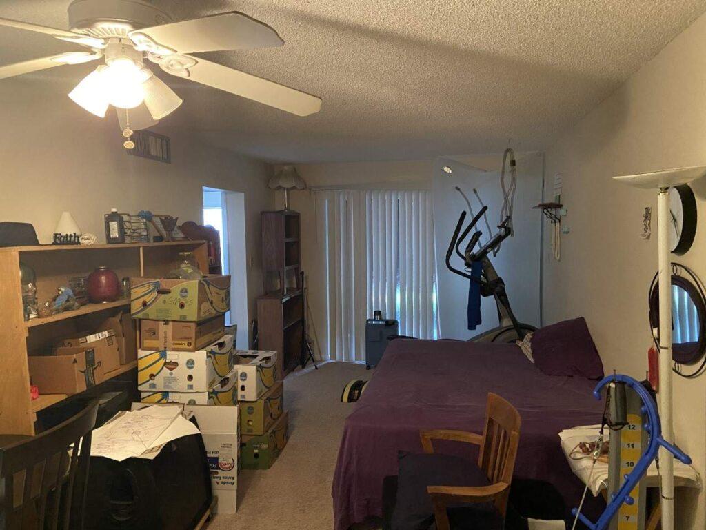 Living room before condo flip