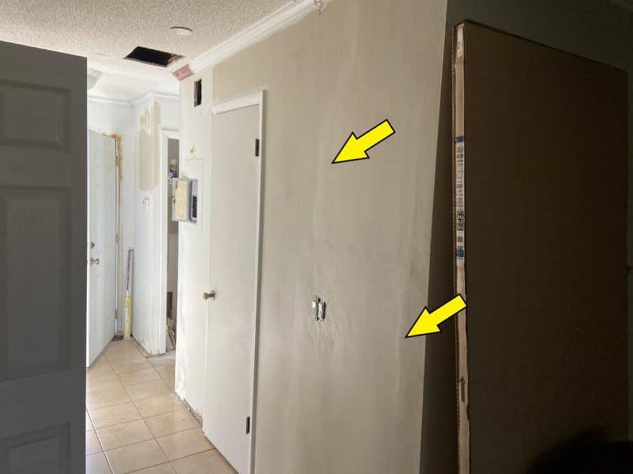bumpy ugly drywall