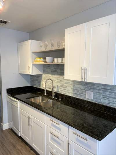 after photo townhouse kitchen renovation