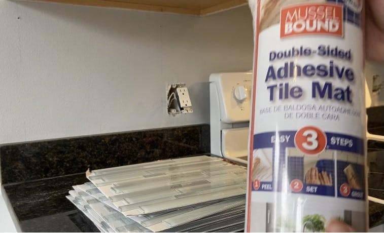 adhesive tile mat roll