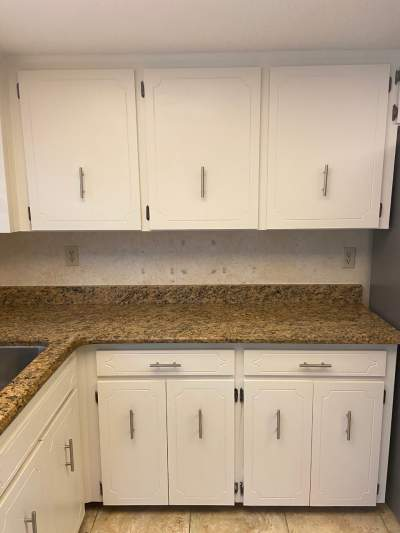 The wrong way to install cabinet pulls